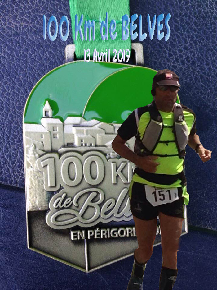 Thierry jouanin Finisher des 100 Km de Belves 2019
