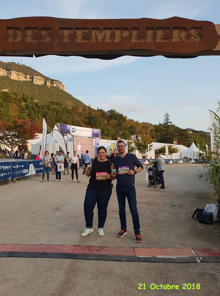 Trail des Templiers - Fred & Elodie