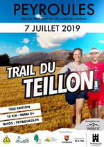 Flyer Trail du Teillon 2019