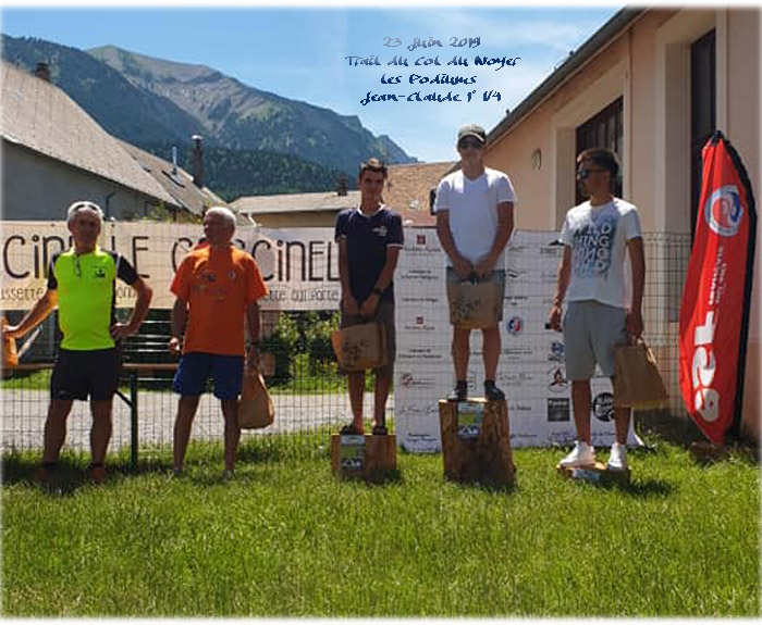 Trail du Col du Noyer - Podium de Jean-Claude