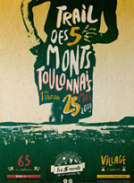 Flyer Trail des 5 monts toulonnais